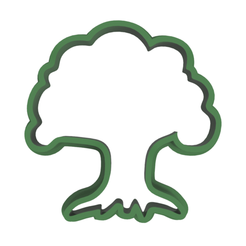 Tree v2.png Download STL file Tree Cookie Cutter • 3D printing object, dwain