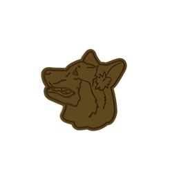 Dog18 v1 Cut.png Télécharger fichier STL Coupe-biscuits pour chien de berger allemand (vue de côté) • Objet imprimable en 3D, dwain