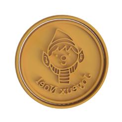 Joyeux Noel v2.png Télécharger fichier STL Joyeux Noel (Merry Christmas) Découpeur de biscuits • Modèle imprimable en 3D, dwain