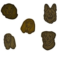 Dog Collection 2.jpg Download STL file Mega 10x Dog Collection Cookie Cutters Set (Personal Use Only) • 3D print design, dwain