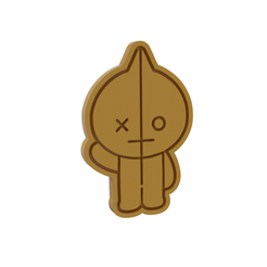 BT21 Van v1.png Download STL file BT21 Van Cookie Cutter • 3D printer template, dwain