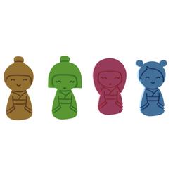 Kokeshi Dolls V1.png Download STL file Kokeshi Dolls Cookie Cutter • 3D printing object, dwain
