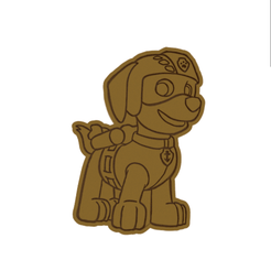 Zuma v2.png Download STL file Zuma from Paw Patrol Cookie Cutter • Model to 3D print, dwain