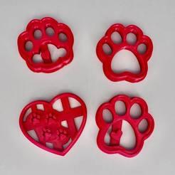 paw set.jpg Télécharger fichier STL Patte de chien - jeu de 4 • Objet pour impression 3D, dwain
