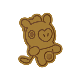 BT21 Pig v1.png Download STL file BT21 Mang Cookie Cutter • 3D print design, dwain