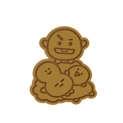 BT21 Shooky v1.png Download STL file BT21 Shooky Cookie Cutter • 3D print object, dwain