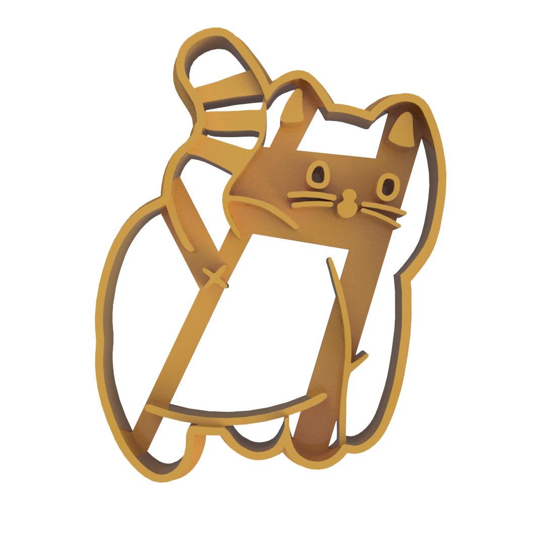 Cat butt 3 v2.png Télécharger fichier STL Coupe-biscuits en forme de fesses de chat V3 (version commerciale) • Design à imprimer en 3D, dwain