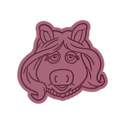 Download 3D printing designs Miss Piggy Cookie Cutter, dwain