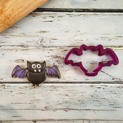 Halloween4 V4.jpg Download STL file Halloween Bat Cookie Cutter • 3D print object, dwain
