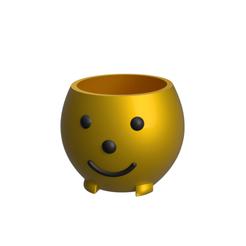 Planter Pot V1.png Télécharger fichier STL Happy Planter Pot • Plan à imprimer en 3D, dwain