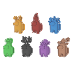 Among Us Christmas V2.png Download STL file Among Us Collection of 7 (Commercial Version) • 3D printing object, dwain