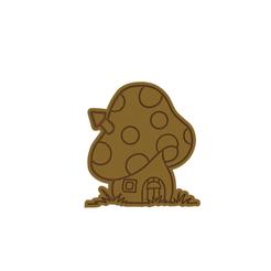 Mushroom v2.png Download STL file Mushroom House Cookie Cutter • 3D printable model, dwain