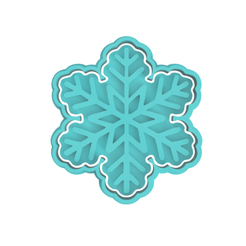 Snowflake v1.png Download STL file Snowflake Cookie Cutter (Commercial) • 3D printable design, dwain