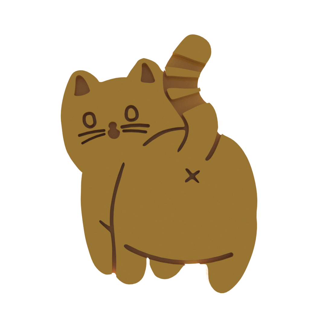 cat butt 3 v1.png Télécharger fichier STL Coupe-biscuits en forme de fesses de chat V3 (version commerciale) • Design à imprimer en 3D, dwain