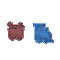 Christmas Train Engine.png Download STL file Train Engine with Christmas Theme • 3D printer model, dwain