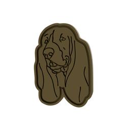 Basset v1.png Download STL file Basset Dog Cookie Cutter • 3D printer model, dwain