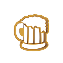 Beer.png Download STL file Beer Cookie Cutter • Object to 3D print, dwain