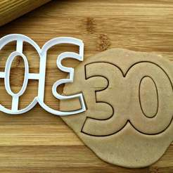 30.jpg Download STL file 30 Age Cookie Cutter • 3D printing object, dwain