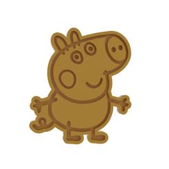 Download 3D printing models Peppa Pig George Cookie Cutter, dwain