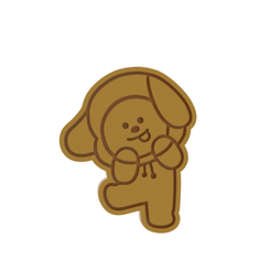 BT21 Chimmy v1.png Download STL file BT21 Chimmy Cookie Cutter • 3D printable template, dwain
