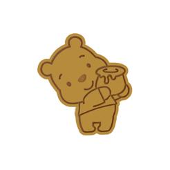 Winnie The Pooh v1.png Télécharger fichier STL Le coupeur de biscuits Winnie l'ourson • Design imprimable en 3D, dwain