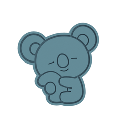 BT21 Koya v2 v1.png Download STL file BT21 Koya v2 Cookie Cutter • 3D printing model, dwain