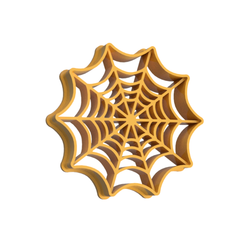 Halloween7 V1.png Download STL file Halloween Spider Net Cookie Cutter • 3D printable object, dwain