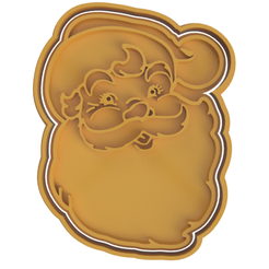 Classic Santa V2.png Download STL file Classic Santa Clause Cookie Cutter • 3D print object, dwain