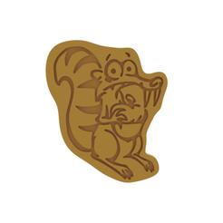 Scrat v1.png Download STL file Scrat Cookie Cutter • 3D printer design, dwain
