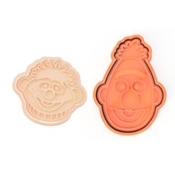 bert and ernie.png Télécharger fichier STL Set de découpage de biscuits Ernie et Bert • Modèle pour imprimante 3D, dwain