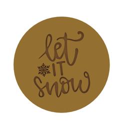 Let it Snow v1.png Télécharger fichier STL Qu'il neige - Christmas Cookie Cutter V6 • Modèle imprimable en 3D, dwain