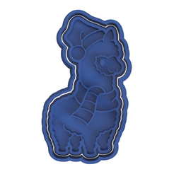 Christmas Collection 6.png Download STL file Lama Santa Cookie Cutter • 3D printer template, dwain