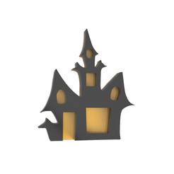 Halloween8 V1.png Download STL file Halloween Castle Cookie Cutter V2 • 3D printable design, dwain