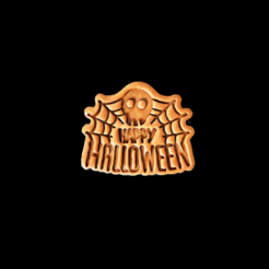Halloween2 V3.png Download STL file Happy Halloween Cookie Cutter V2 • 3D printable object, dwain