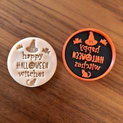 IMG_3966.jpg Descargar archivo STL Cortador de galletas de las brujas de Halloween • Objeto para impresión 3D, dwain
