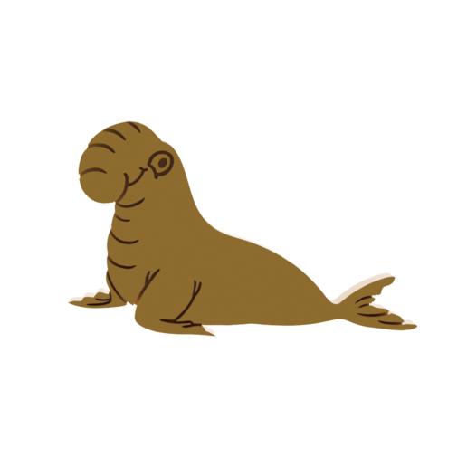 Bull Elephant Seal V1.png Télécharger fichier STL Coupe-biscuits pour éléphant mâle • Design à imprimer en 3D, dwain