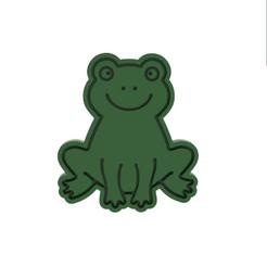 Frog v1.png Download STL file Frog Cookie Cutter • 3D print object, dwain