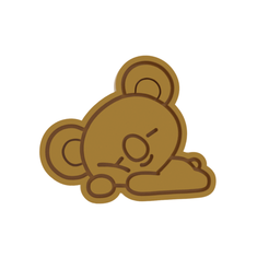 BT21 Koya v1.png Download STL file BT21 Koya Cookie Cutter • 3D printing model, dwain