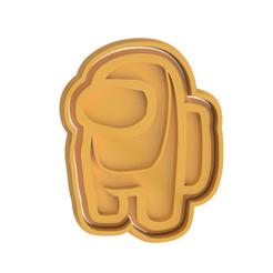 Among Us V2.png Télécharger fichier STL Parmi nous, un coupeur de biscuits • Objet à imprimer en 3D, dwain