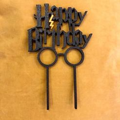 Download 3D printing files Birthday Cake Topper with Harry Potter Fonts - Commercial Version, dwain