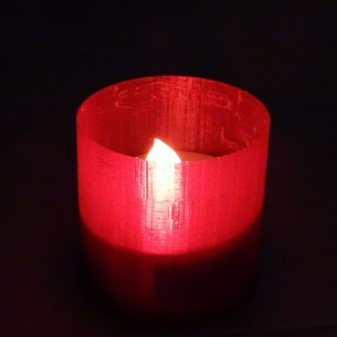Free 3D printer file tealight, rlud