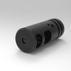 untitled.37.png Download 3MF file MJR MOD10 Muzzle Compensator  • 3D printing template, Math3w