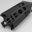 Download 3D printer templates MJR MOD1 Muzzle Brake , Compensator, Flash Suppressor, Math3w