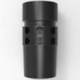 Download free 3D printing templates MJR MOD9 Flash Hider, Blast Diffuser , Math3w