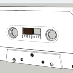 Free 3D printer files Audiotape, TanguyPinel