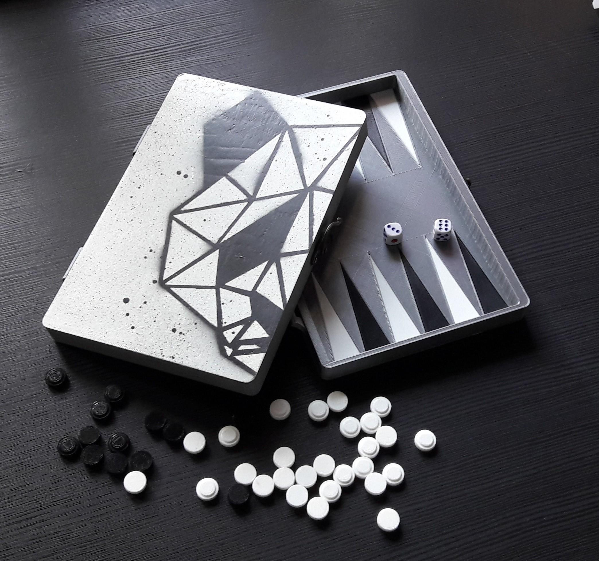 20170907_081842.jpg Download STL file Backgammon game • 3D print template, eliza_sparrow