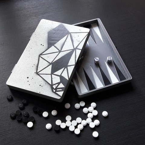 3D printer file Backgammon game, eliza_sparrow