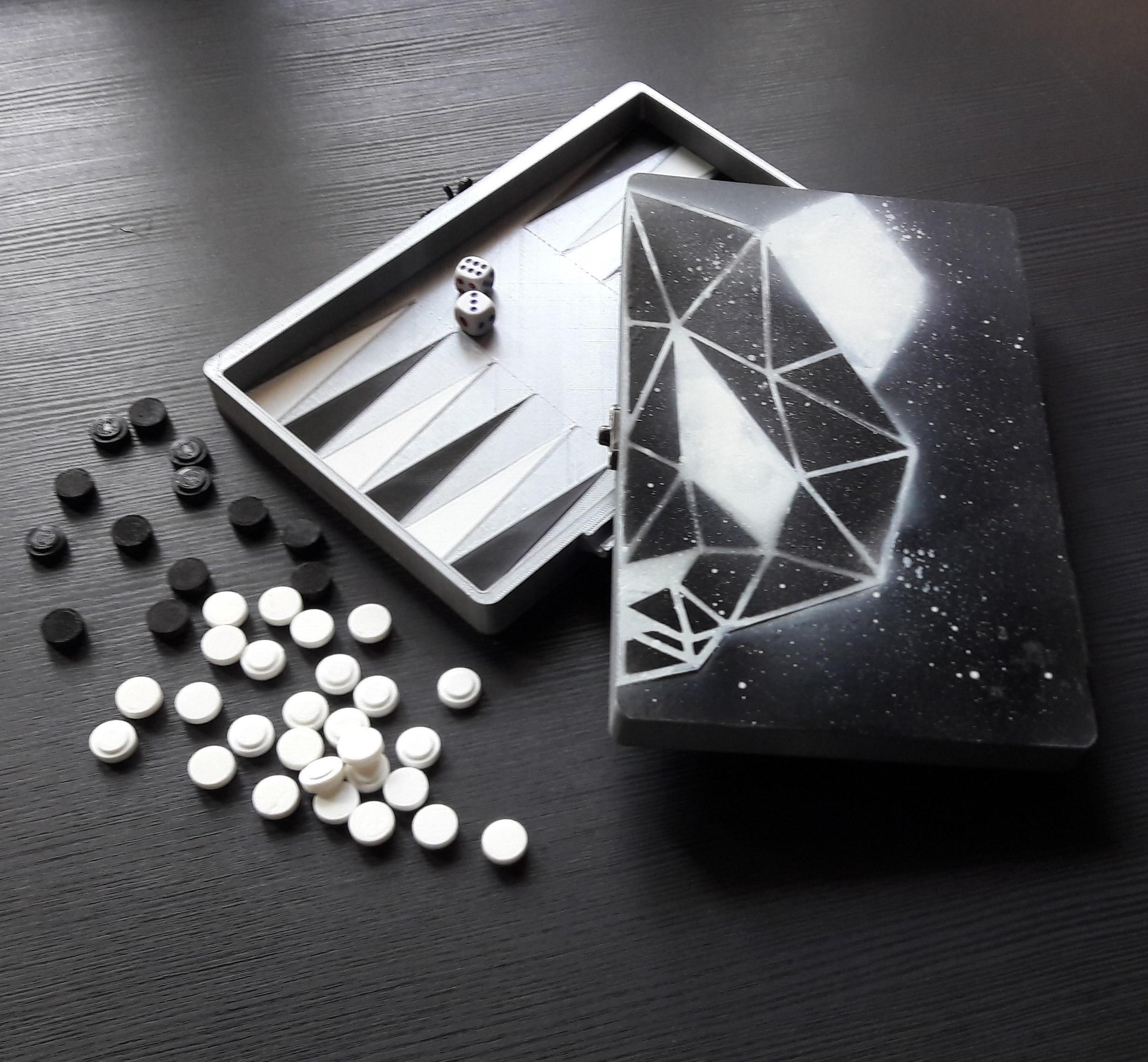 20170907_081752.jpg Download STL file Backgammon game • 3D print template, eliza_sparrow