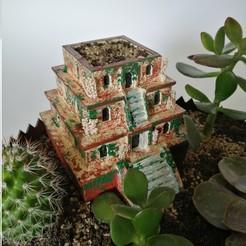 house_pot1.jpg Download STL file Old bulding - flower pot (DIY project) • Design to 3D print, eliza_sparrow