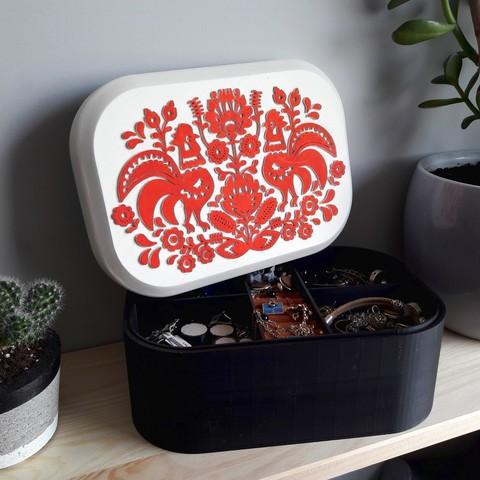 Download STL file Folkloristic jewelry box • 3D printing template, eliza_sparrow